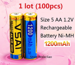 $enCountryForm.capitalKeyWord NZ - 100pcs 1 lot Size 5 1.2V 1200mAh Ni-MH Rechargeable Battery 1.2 Volt Ni MH batteries free shipping
