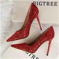 Red White Dresses Australia - 2019 New Fashion luxury designer women shoes Solid high heels 9cm Red Black White Leather Pointed Toes Pumps Dress Wedding Party shoes