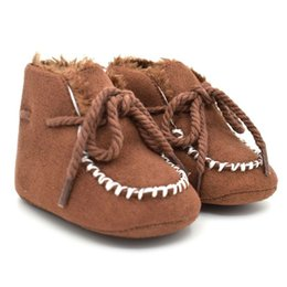 $enCountryForm.capitalKeyWord Australia - Baby Boots Sheepskin Genuine Leather Boy Baby Boots Fur Newborns Winter Shoes Infants Warm Shoes Fur Wool