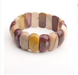 Crystal Cross Connector Jewelry Australia - Cross-border models Europe and America exaggerated jewelry Natural crystal bracelet Personality agate hand row