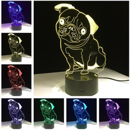 $enCountryForm.capitalKeyWord NZ - 2019 New 3D Cute Pug Puppy 7 Color Change Child Boys Bedroom Decor Lovely Dog Doggy Animal Night Light Kids Birthday Xmas Holiday Toys Gifts
