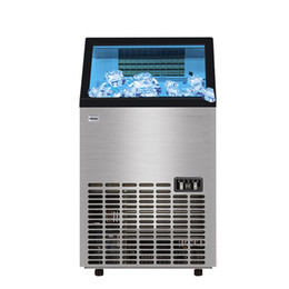 FOR SALE Automatic Electric Ice Maker Ice Cube Making Machine Small Bar Coffee Shop 80kg Ice Maker with Water on Sale