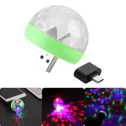 power bank shape Australia - USB Gadgets USB Laser Light Mini RGB LED Ball Shape Stage Effect Convenient Light For Mobile Phone PC Power Bank For Party Club