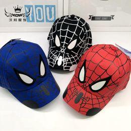 Venta al por mayor de Nuevo sombrero para niños Marvel anime bebé gorra Spider-man gorra de béisbol dibujos animados al aire libre sombrero para el sol