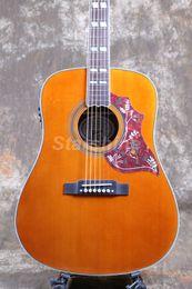 $enCountryForm.capitalKeyWord NZ - Starshine 6 Strings Acoustic Guitar ZZ-HMY Fishman 101 EQ Solid Top Bone Nut&Saddles Humming Bird Pickguard Grover Tuner