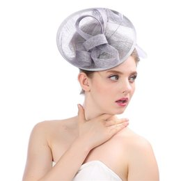 $enCountryForm.capitalKeyWord Australia - Hot Sale Hot Quality Lady Fascinator Elegant Yarn Mesh Fedoras Hair Clips Hat Women Fedora For Party 80619