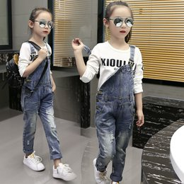 Baby Clothes Ripped Jeans Australia - Children's Clothing Ripped Jeans Baby Girl Leisure Denim Overalls