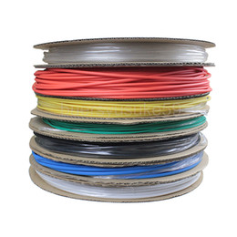 heat shrink tubing tube Canada - 200M Diameter 5mm Heat Shrink Tubing Sleeving Cable Shrinkable Ratio 2:1 Heat Shrinkable Tube Yellow Blue Green White Red Clear Multi-color
