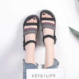 $enCountryForm.capitalKeyWord UK - Women Open Toe Boho Sandals Ankle Strap Platform Sandals Bohemian Beach Shoes Casual Platform Shoes Buckle Strapy Shoes