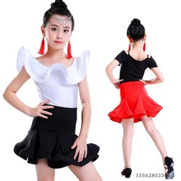 e7c51af3cd898 ballroom ruffle latin dance wear dress competition girl kids children salsa  tango cha cha for performance practice skirt set