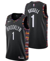 $enCountryForm.capitalKeyWord Australia - 2019 style fans Brooklyn Men Nets #1 Russell Embroidery Basketball Vests black Gold Edition Jersey