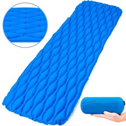 Wholesale Outdoor Camping Ultralight Sleeping Mat Inflatable Sleeping Pad Bags Mattress Hiking Backpacking Self driving Travel Camping Mat
