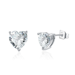 dda944cc5 Heart Cubic Zirconia Stud Earrings For Women Fashion Party Jewelry  Accessories CZ Crystal from Swarovski Classic Anniversary Gift W2