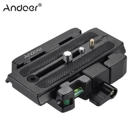 $enCountryForm.capitalKeyWord NZ - clamp adapter Andoer Video Camera Tripod Clamp Adapter with Quick Release Plate Compatible for Manfrotto 501 500AH Q5 Head