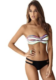 beach sexy cloth Australia - European and American-style beach multi-color printed sexy swimsuit New style wrap-around bandage cloth two-piece swimsuit bikin
