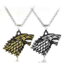 $enCountryForm.capitalKeyWord Australia - Pendant Necklaces Chain Jewelry Game of Thrones Stark Direwolf Charm Vintage Inspired Necklace A Song of Ice and Fire LBR004