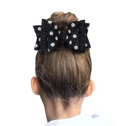 Babies Hair Wearing Headbands Australia - Woman hair clips Shinning bow hair accessories quality Ribbon head wear flower baby headband for girls hairgrips HC132