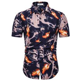 $enCountryForm.capitalKeyWord Australia - Dress Men shirt Hawaiian Style New Flower Social Men Shirt Casual Blouse Men's clothing Camisa masculina Slim Summer