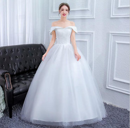 Discount simple chiffon one shoulder wedding dress - One-shoulder V-neck light wedding dress new bride wedding trailing simple slimming large size