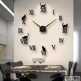 $enCountryForm.capitalKeyWord Australia - Nordic Creative Simple Large Round Clock Acrylic DIY Mirror Wall Wall Clock Modern Design Living Room Decoration Quartz