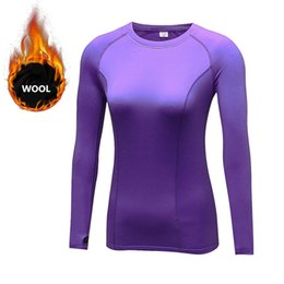 $enCountryForm.capitalKeyWord Australia - LoRun Wool Yoga Shirt Tops Women Sports Suit Tights for Winter Warm Quick Dry Cashmere T-Shirts Compression Fitness Gym Clothing