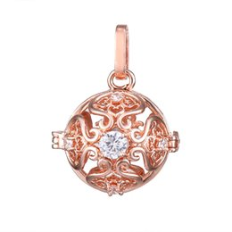 $enCountryForm.capitalKeyWord UK - Fashion Jewelry Crystal flower Angel Ball Bola Metal Copper Magic Perfume Diffuser Pregnant Women Pendant In Charm Necklace For Women Gift