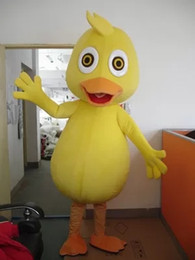 adult cartoon outfits NZ - Yellow Duck Cartoon Character Mascot Costume Fancy Outfit&Party Dress Adult size