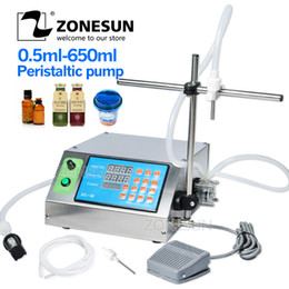 Oil desk online shopping - ZONESUN Peristaltic Pump Bottle Water Filler Semi automatic Liquid Vial Desk top Filling Machine for Juice Beverage Oil Perfume