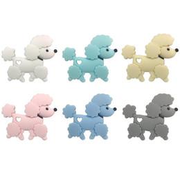 $enCountryForm.capitalKeyWord Australia - Teddy Dog Silicone Teether BPA Free Infant Teething Necklace Pendant Food Grade Silicone Beads Nursing Gifts Baby Chew Toys