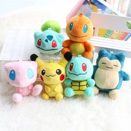Pikachu animals online shopping - 9cm Cartoon Pikachu Plush Animals Doll Polypropylene Cotton Little Fire Dragon Snorlax Kids Stuffed Toy Japanese Anime Series Toys mh E1