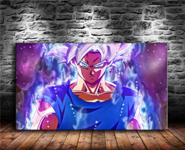 Super Figure Painting NZ - Ultra Instinct Goku Super Saiyan Silver Goku Dragon Ball,1 Pieces Canvas Prints Wall Art Oil Painting Home Decor (Unframed Framed)
