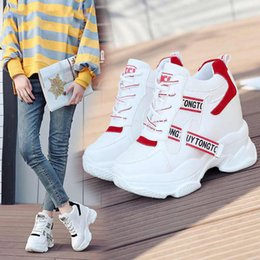 $enCountryForm.capitalKeyWord NZ - 2019 White Trendy Shoes Women High Top Sneakers Women Platform Ankle Boots Basket Femme Chaussures Femmes Height Increase Shoes