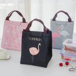 stockings packs 2019 - New Large capacity for lunch picnic camping insulation pack waterproof Oxford cloth flamingo printed lunch bag cheap sto