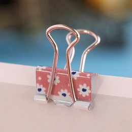 $enCountryForm.capitalKeyWord Australia - 10PCS lot Mini Useful Colorful Printed Metal Paper Clip Binder Clips Desk Bag Sealing Clamp School Office Storage Supplies