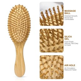 hair comb brush wooden NZ - s Natural Bamboo Anti-Static Wooden Bristles Massage Scalp Comb Brushes Hair Care Wood Beard Comb Nursing Scalp Hair Comb