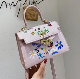 lady mini handbag Australia - Mini Kely Handbags Lady Small Crossbody Bag Fashion Women Graffiti Shoulder Messenger Bag