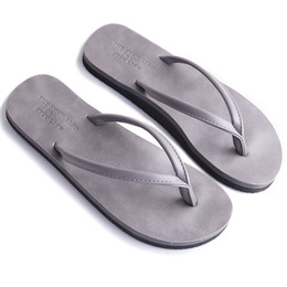 4f8c808fb5d0d5 BIGTREE New men s Summer solid color simple flip flops fashion wear men and women  beach shoes couple slippers pinch sandals