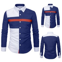 Mens Slim Fit Formal Shirts Australia - Shirt Slim Men Formal Men Shirt Summer Cotton Mens Long Sleeve Oxford Formal Suits Slim Fit Tee Shirts Blouse Top W413