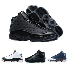 2a97ddaa3c1 Barato Nuevo de calidad superior 13 13s Hombres Mujeres Zapatos de  baloncesto Bred negro marrón azul blanco holograma pedernal gris rojo  deportes zapatillas ...