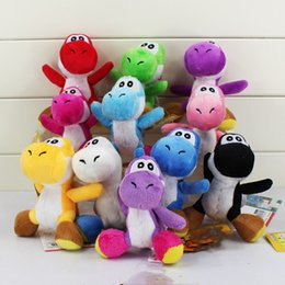 Plush rePtile toy online shopping - 10Styles cm Super Mario Bros Yoshi Stuffed Plush Toys With Keychain Pendant Dolls for Children With Keychain Keyring Great Gift