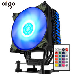 Intel 775 Processors Australia - Aigo ICY K4 CPU Cooler 4 Heatpipes PWM RGB 120mm fan Radiator for AMD Intel 2011 1151 1155 1156 775 CPU Cooling 120mm fan