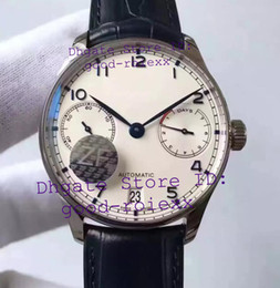Watch day poWer reserve online shopping - Top Mens Automatic Cal Watch White Dial Calendar V5 Version Leather Men Eta Days Men s Watches ZF Sport Factory Eta Wristwatches