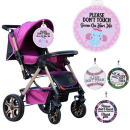 shower seats NZ - Please Don't Touch Sign For Baby Stroller Newborn Baby Car Seat Tag Shower Gift