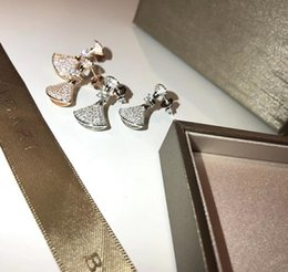 Cheap Number Plates Australia - GOLD Plated Crystal Earrings Water Shape Stud For Women Cheap new Jewelry For Wedding