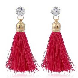 Man Made Diamonds Australia - 1 set Tassels ear studs artificial diamond eardrop pendant Women Brand girlfriend boyfriend gift crafts dinner accessoriese