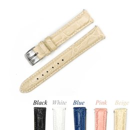 $enCountryForm.capitalKeyWord UK - 12mm 14mm 16mm 18mm 20mm Leather Watch Band Pink Beige Blue Watchband Genuine Leather Strap For Hour With Stainless Steel Buckle T190702