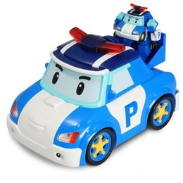 remote police cars Australia - Silverlit Deform Poli RC Car Robocar POLI Smart Follow Shiny Cartoon Car Electric Remote Control Dessin Animé Robot Poli Police Car 3-6T 06