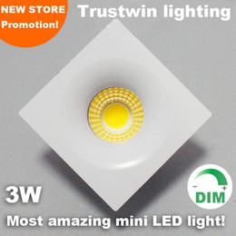 small micro switches Australia - Foyer Living Sitting Recessed Micro Miniature Spot Down Light Small Mini Cob Square Led Downlight 3w Dimmable