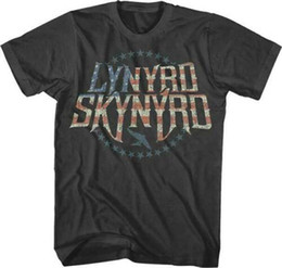 $enCountryForm.capitalKeyWord Australia - Lynyrd T Shirt For Men Skynyrd Stripes & Stars Logo Licensed Adult T Shirt