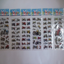 Discount puffy toys Cartoon Motorcycle Stickers Children Motorbike Auto Racing Scrapbooking Kawaii Reward Kids Toys Bubble Puffy Stickers M1